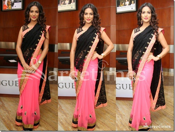 Pink_Black_Half_and_Half_Saree