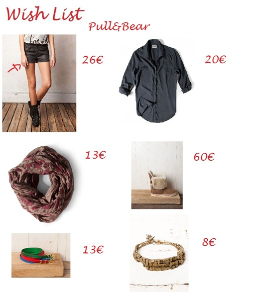wish list pull&bear