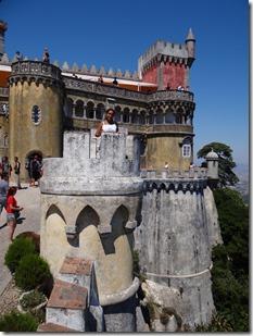 Reine sur la tour de garde