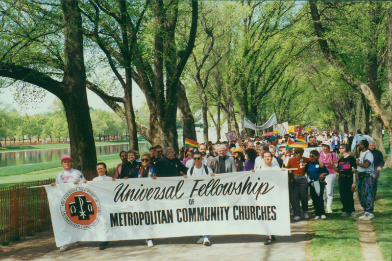 Universal Fellowship, Metropolitan Community Churches (UFMCC) at the March on Washington. April 25, 1993.