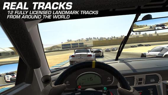 Real racing screen