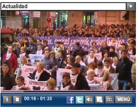 Fòto EFE de la manifestacion de Bilbo dissabte 7 de genièr 2012 2