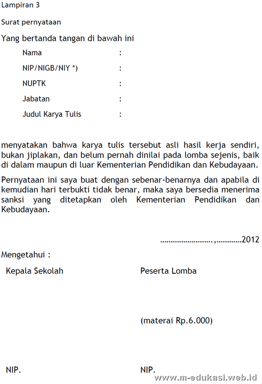 Contoh lomba LKG Nasional 2012
