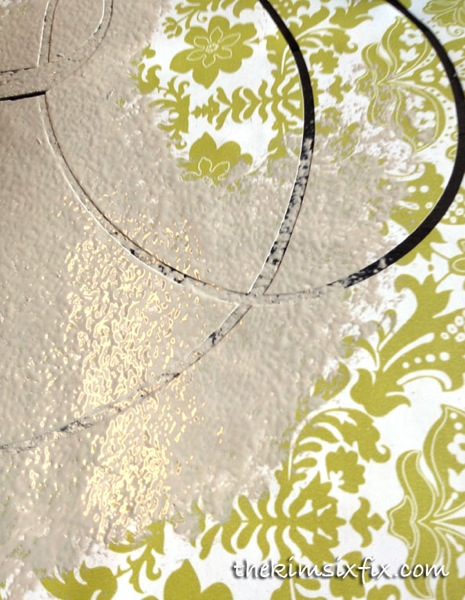 Contact paper paint stencil