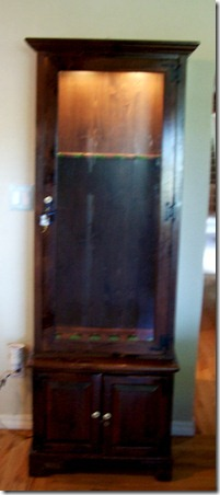 old cabinet in house