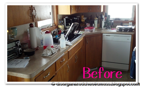 Kitchen Clutter Before