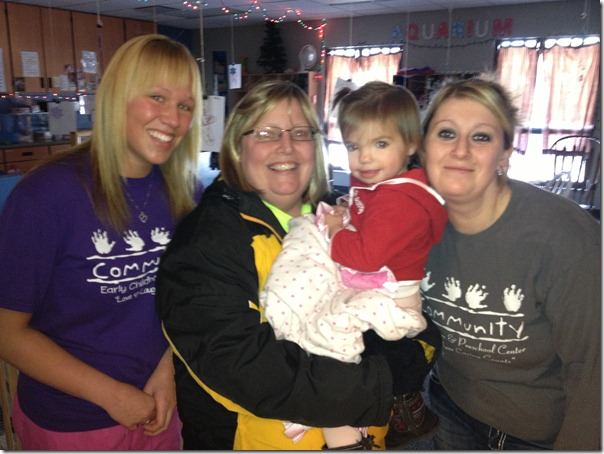 12.21.12 Adelyn's Last Day @ Community Daycare