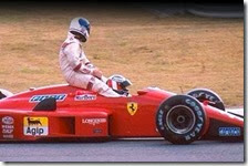 Derek Warwick sulla Ferrari di Gerard Berger