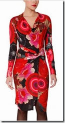 Desigual Red Jersey Dress