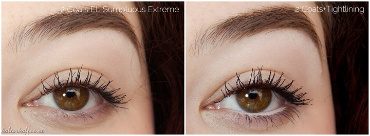 Estée Lauder Sumptuous Extreme Lash Multiplying Volume Mascara applied