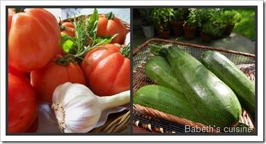 tomates et courgettes