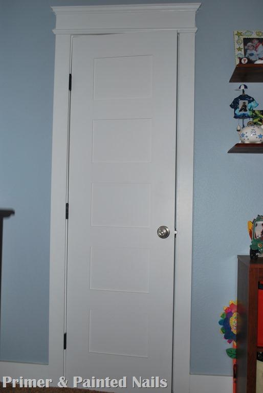 Ladder Back Door - Primer&Painted Nails