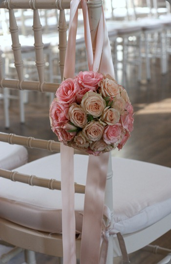 pomander-ball blush floral design