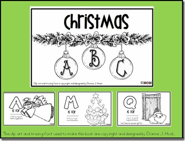 musings of me: Christmas ABC Coloring Book (Freebie)!