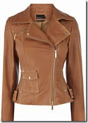 Karen Millen Signature Tan Leather Jacket