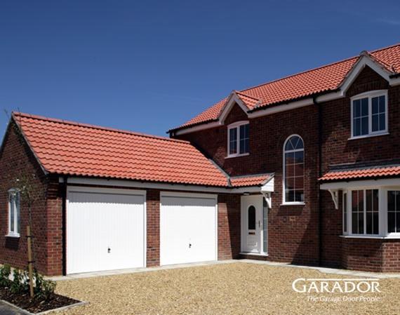 White Garador Carlton Secured by Design door on new build house