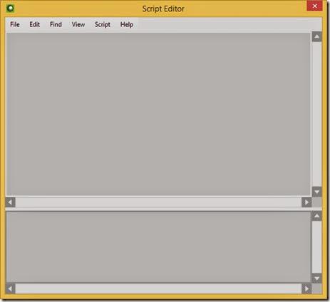 Open the Script Editor