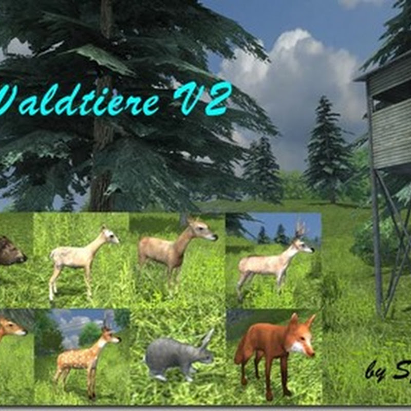 Farming simulator 2013 – Animali della foresta posizionabili v 2.0
