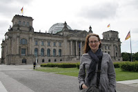 Kristy out the front of the Reichstag