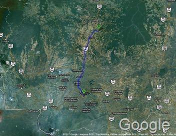 mapa da localização de vera