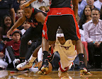 lebron james nba 130123 mia vs tor 03 Boston Outlasts Miami in 2nd OT. LeBron Debuts Suede X PE!