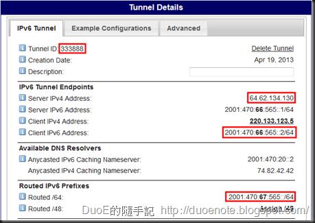 HE IPv6 TB Detail