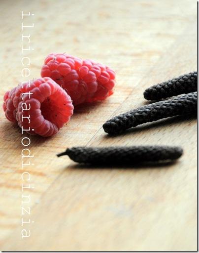 confettura di lamponi speziata al pepe lungo