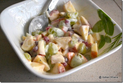 Fruits salad with dahi navratri upwas recipes