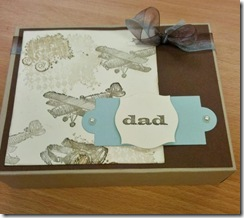 Card Class 2 Mens envelope box with matching cards