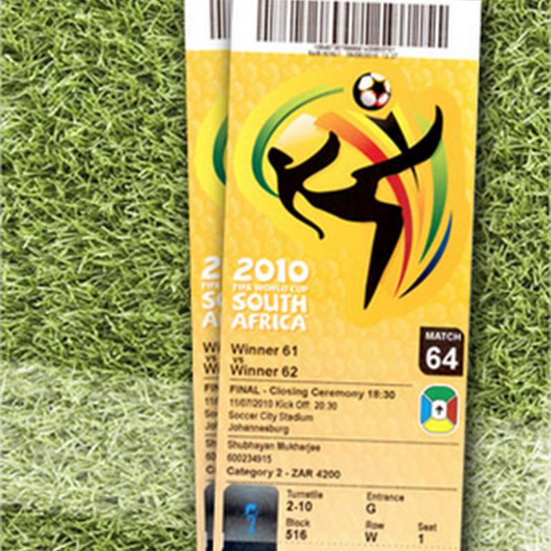 El diseño de los boletos de entrada de los mundiales de futbol desde 1930