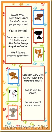 dog party invites
