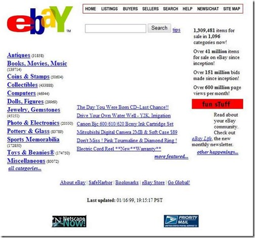Ebay diciembre del 98