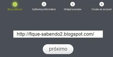 Coloque o endereço do seu blog