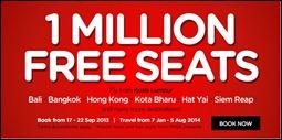 Malaysia AirAsia 1 Miilion FREE Seats 2014 Air Ticket Promotion