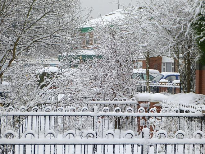 Бирмингем. Снежное убранство.
