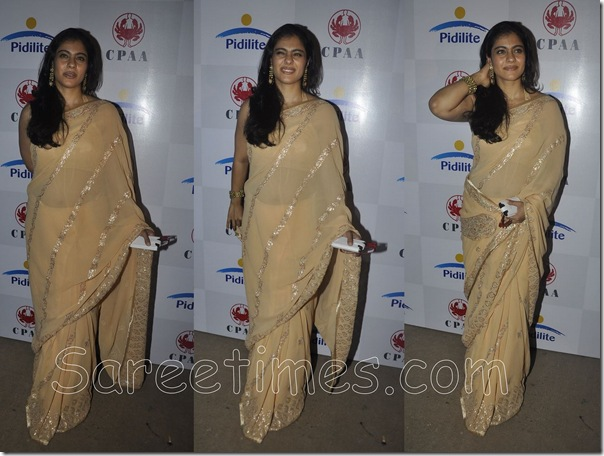 Kajol_Designer_Peach_Saree