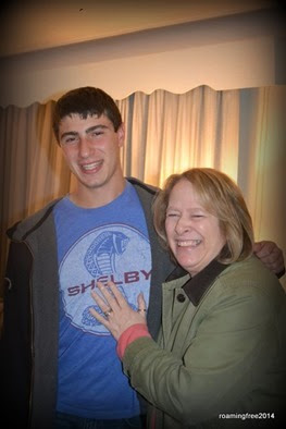 Nick with Aunt Diane