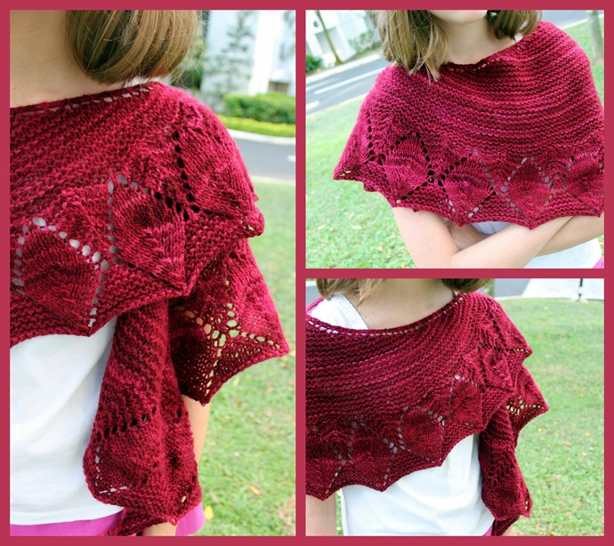Leaves line shawl
