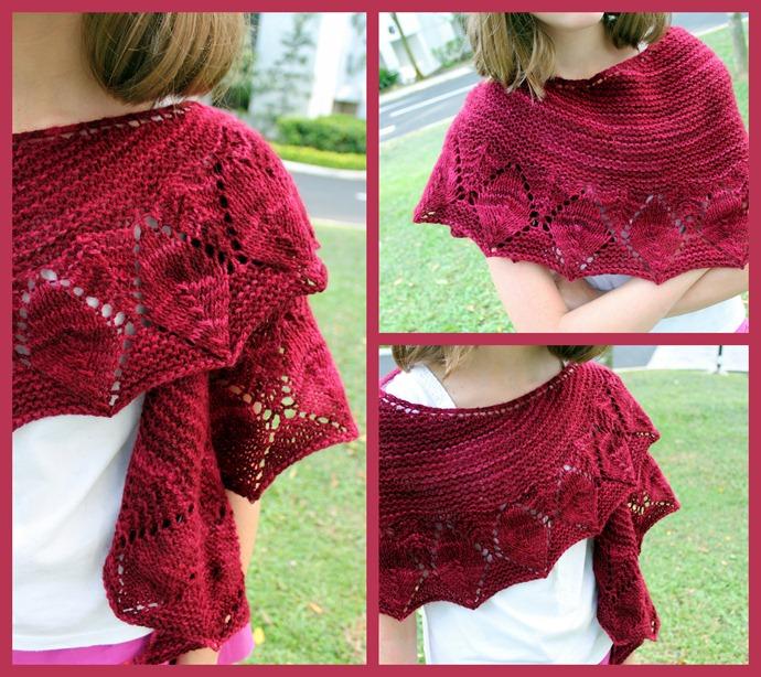Leaves line shawl