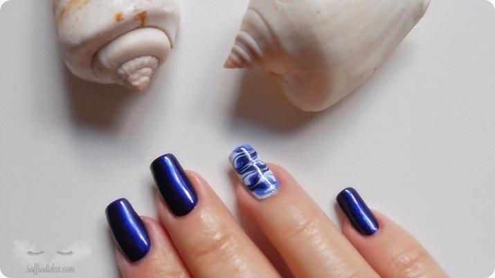 nail art - nailart - marble - soffiodidea - soffio di dea - onde -1a