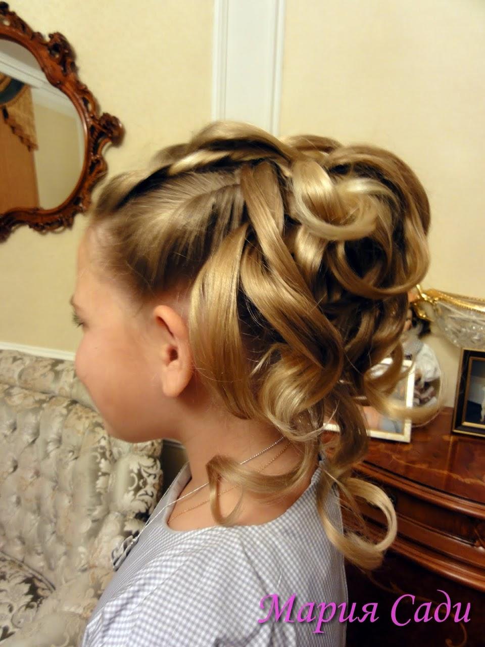 Причёска для свадьбы фото дети