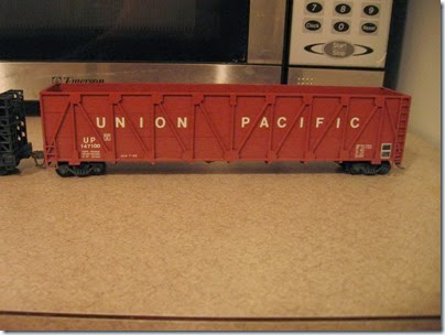 IMG_5074 Scratchbuilt Union Pacific Woodchip Gondola #147100 on January 20, 2007