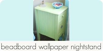 beadboard wallpaper nightstand