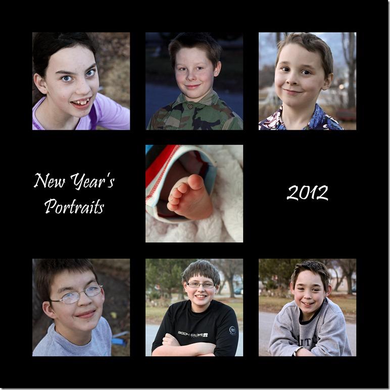 New Years Kid Portraits 2012