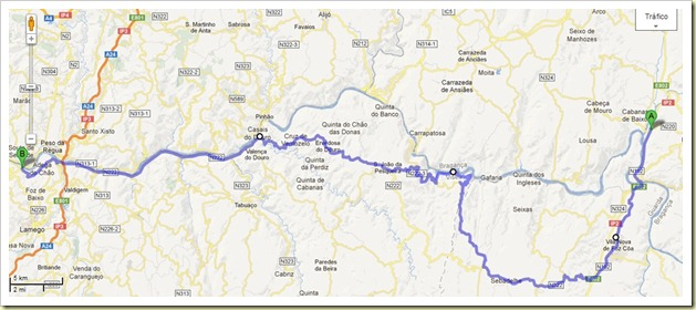 Mapa Duero Vinhateiro