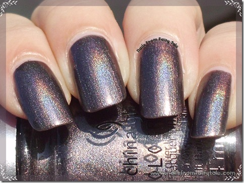 China Glaze HoloGlam Collection Galactic gray