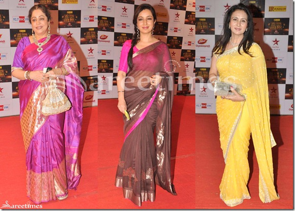 Sarees_Big_Star_Awards_2012