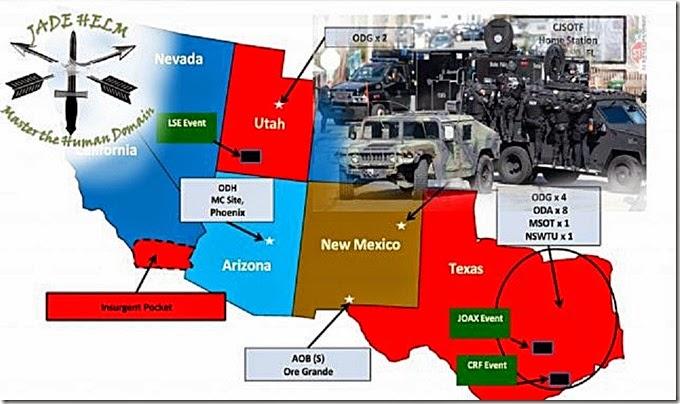 Jade Helm 15 Map