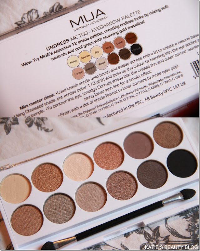 mua undress me too palette detail