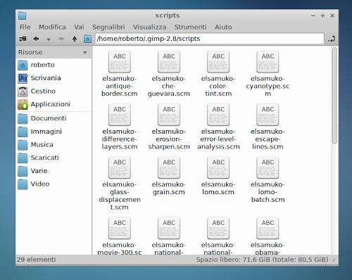 integrare i filtri elsamuko in Gimp